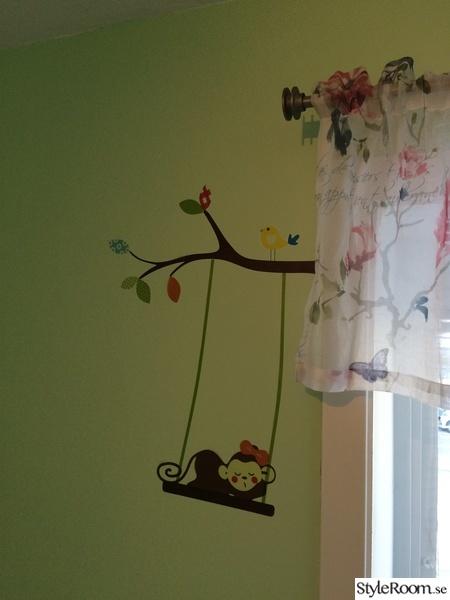 väggstickers,barnrum,barnkammare,grönt,mintgrönt