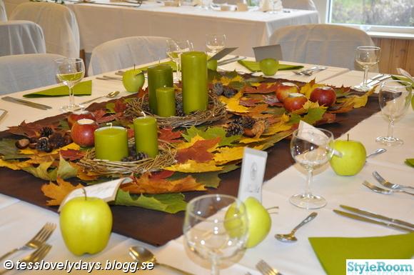 höst,löv,äpplen,grön,brunt