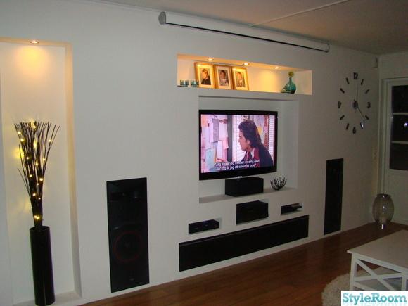vardagsrum,tv,cervin vega högtalare,högtalare,projektorduk