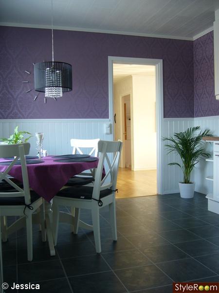 kök,svart,vitt,lila