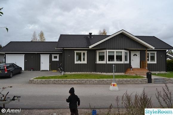 framsida hus,fasadbelysning