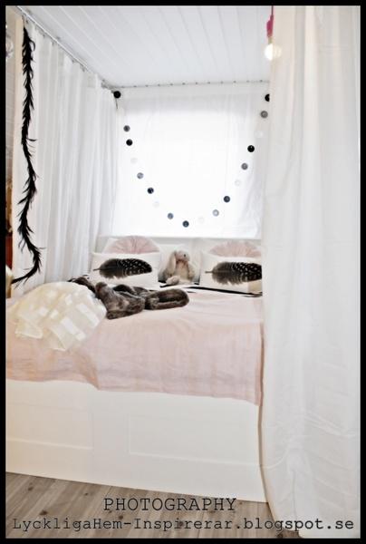 sänghimmel,linnetyg,sovrum,barnrum