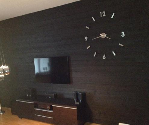 mattsvart svart panel panelvägg