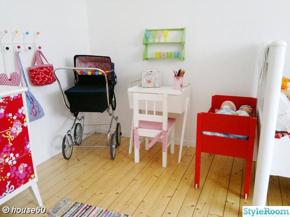 kryddhylla,dockvagn,syskrin,docksäng,barnskrivbord