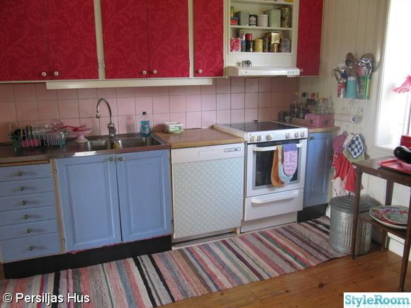rött,blått,kök,diskmaskin,vaxduk