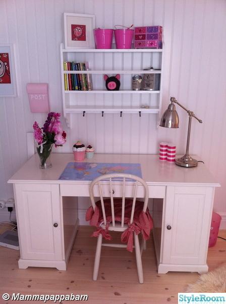 skrivbord,barnrum,flickrum,hemnes skrivbord ikea,postlåda barn iems