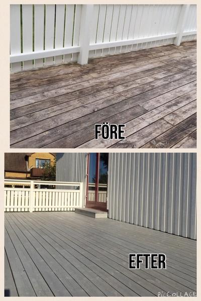 terrass,före & efter