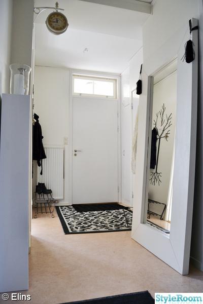 ytterdörr,spegel,toffsar,hallmatta