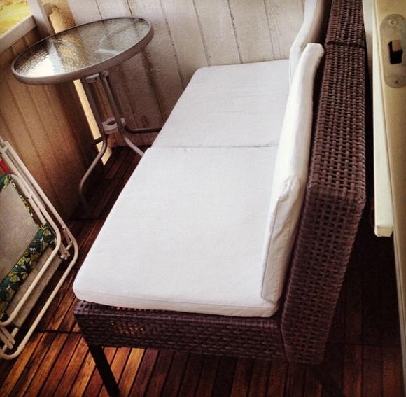 Lantlig soffa