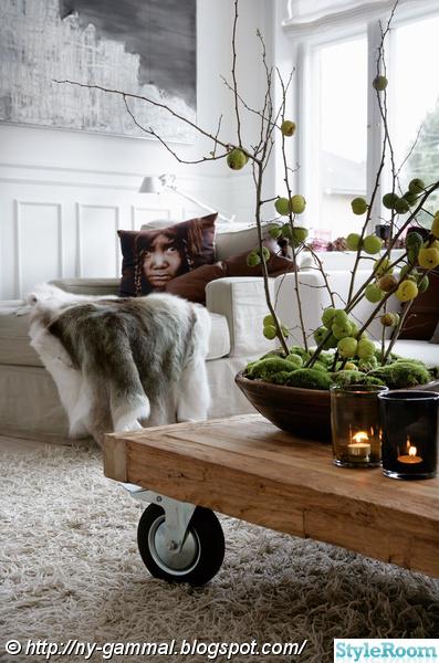vardagsrum,pläd,fåtölj,soffbord