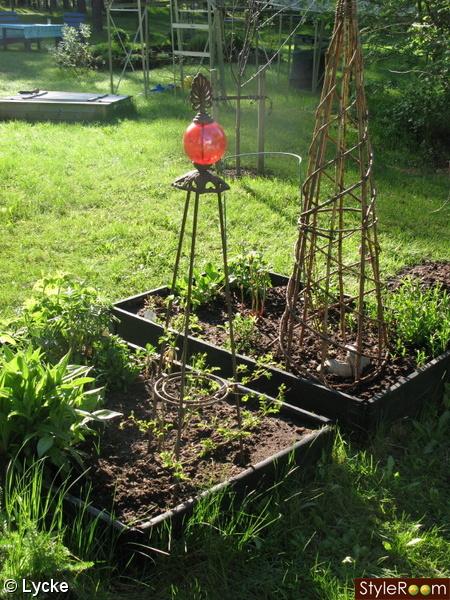 rabatt,trädgård,pallkrage,pynt,konst
