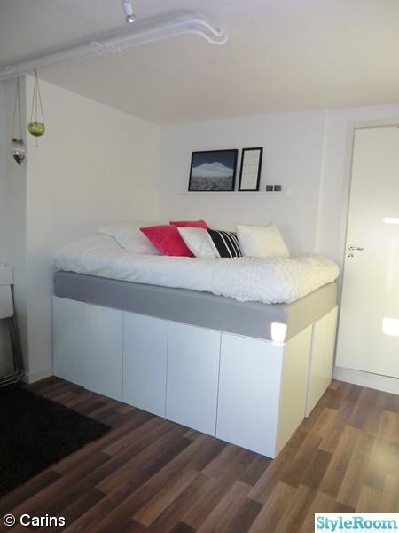 förvaring,compact living,upphöjd säng,säng,sängstomme