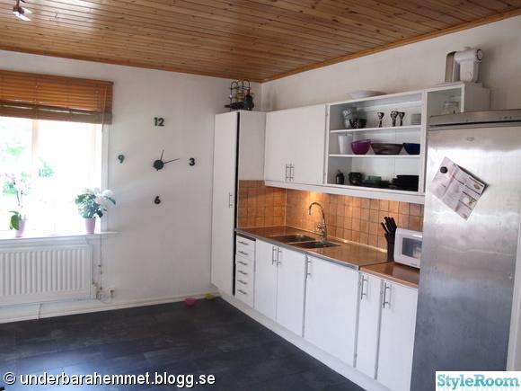 Retro Koksluckor : grona koksluckor  renoverat kok molat luckor nytt golv molat