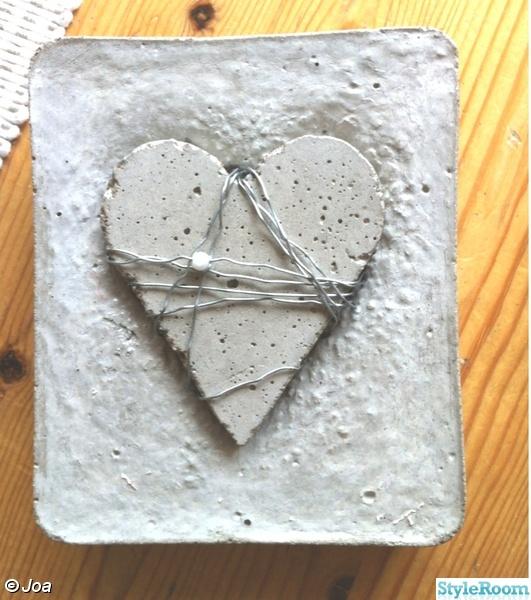 hjärttavla,betongtavla,betong,hjärta,hjärtan