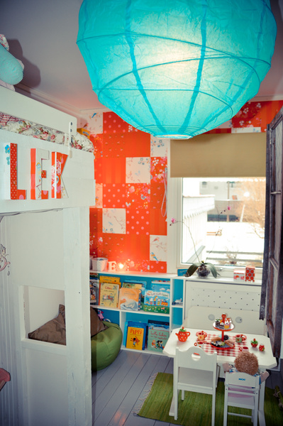 barnrum,rislampa,barnmöbler,elementskydd,gardin