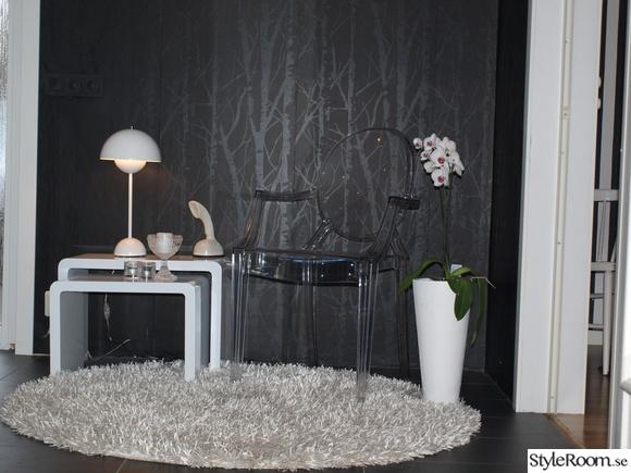 kartell ghost,hall,svartvitt,flowerpot,verner panton