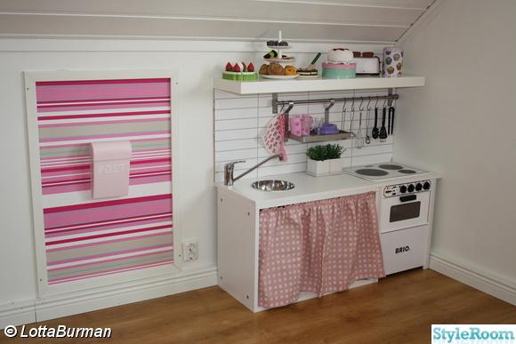 barnrum,flicka,rosa,barnkök,bombadill