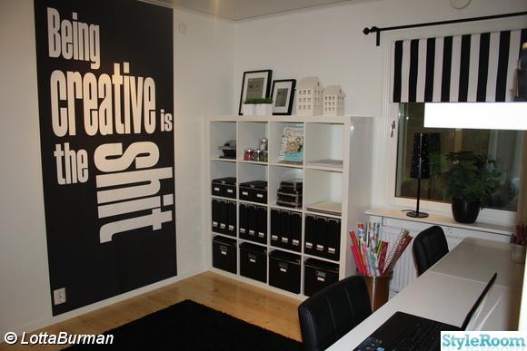 pysselrum,kontor,svartvitt,jtp-design,janethepain