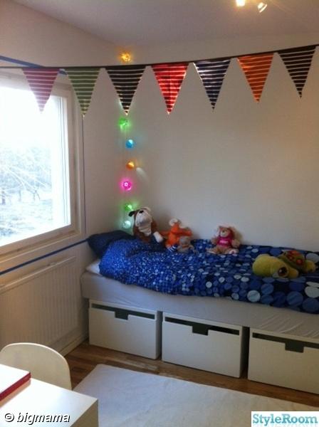 flaggor,säng med lådor,säng med förvaring,ikea,bestå