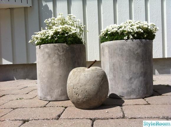 Göra egna betongkrukor är en kul sysselsättning