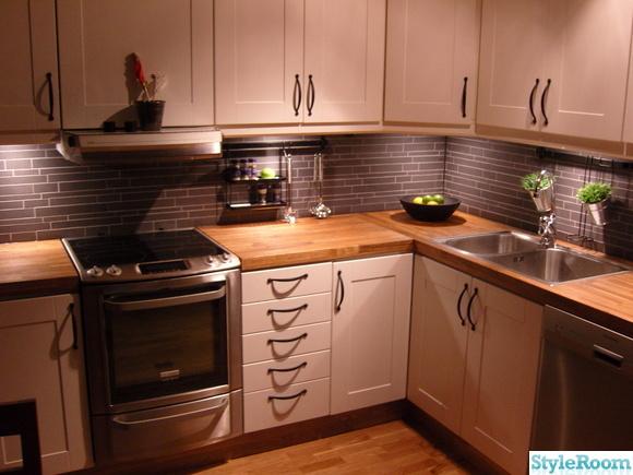 köket,efter,köksluckor,vitvaror,ekbänkskiva