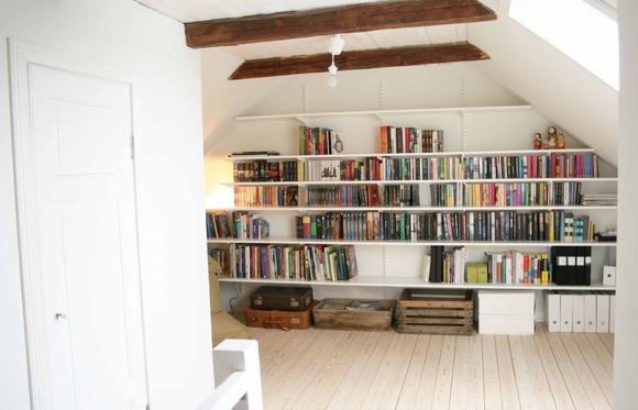 bokhylla,bjälkar i taket,bjälkar