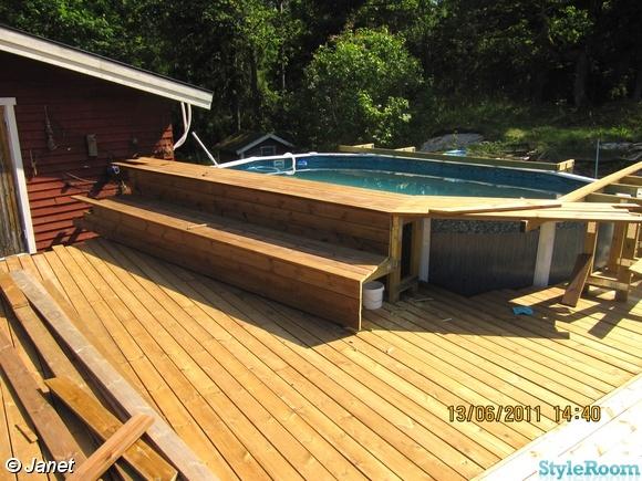 bild p altan tr d ck altan och pool av janettan. Black Bedroom Furniture Sets. Home Design Ideas
