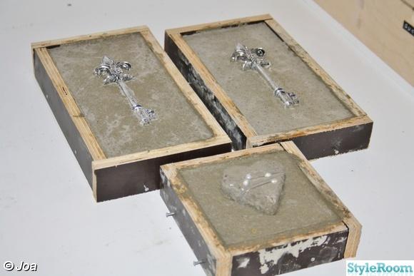 hjärta,nyckel,tavla,betong,betongtavla