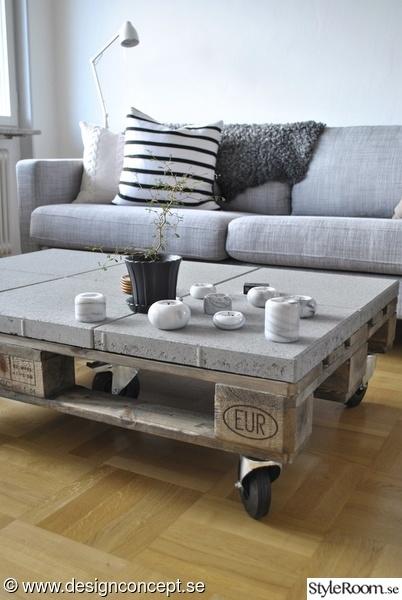 soffa,soffbord,soffbord av lastpallar,marmor,drivvedsbets