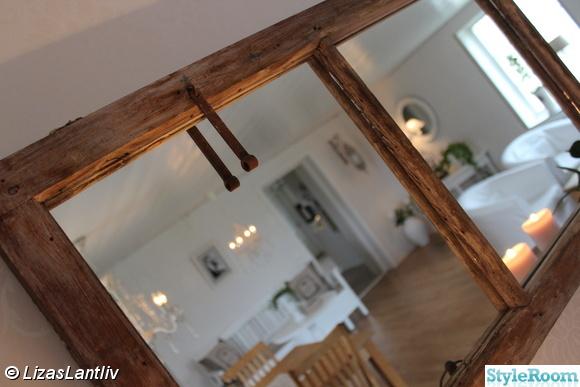 gammalt fönster,spegelglas,finrum