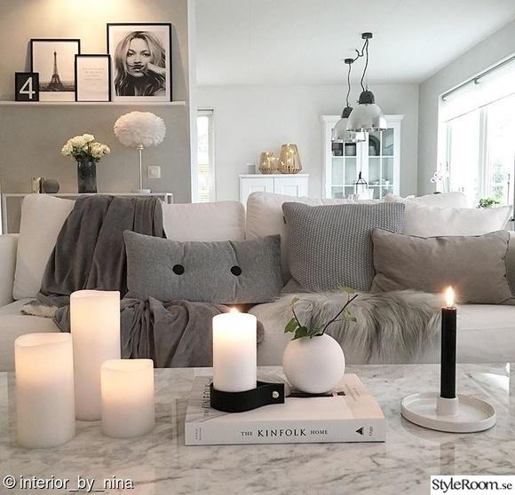 vardagsrum,vitt,modernt,marmorbord