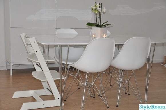 norrsten sk p ikea vit h gblank matbord vita eames plastic side chair stol dsr orkid iittala. Black Bedroom Furniture Sets. Home Design Ideas