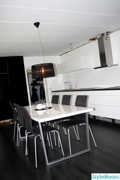svart köksbord : svart beställ rönne bord 140 vit 4 nybro stol ...