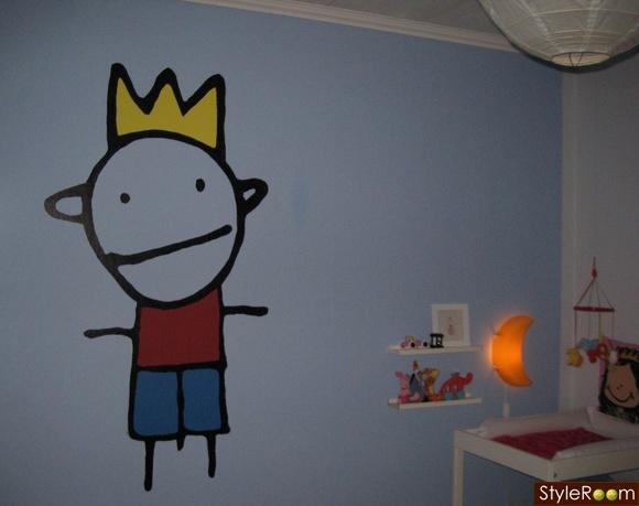 barnrum,väggmålning