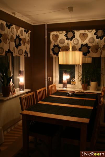 köksbord/lampa/stolar/gardiner/mm