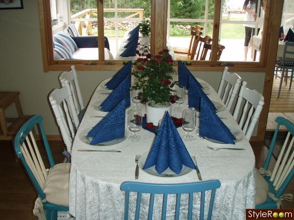 vita köksstolar : Klart att man vill ha långbord på Bröllops ...