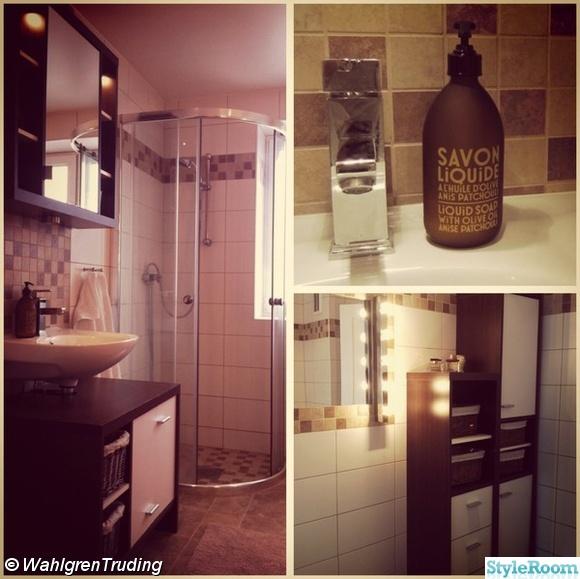 Inspirerande bilder på brunt badrum