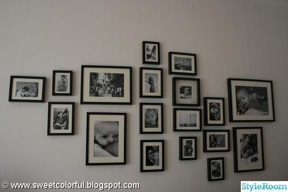 foto,svartvitt,tavelvägg