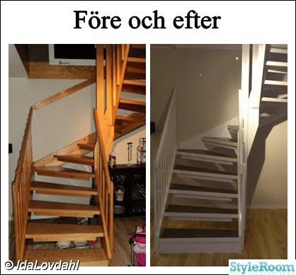 Måla trappa med plastmatta