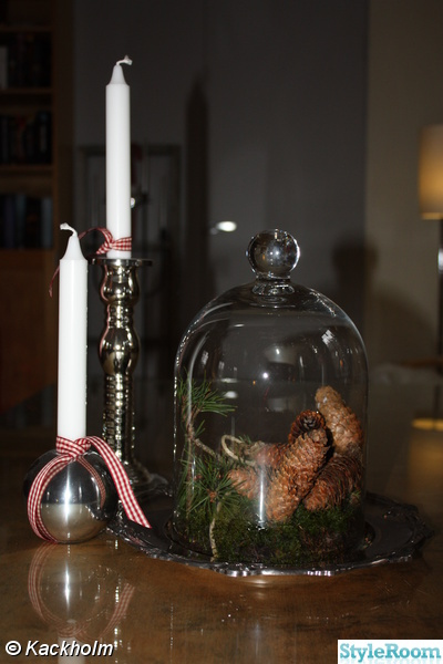 glasklocka,glaskupa,kottar,jul,advent