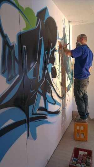 graffitimålare,graffiti,under process