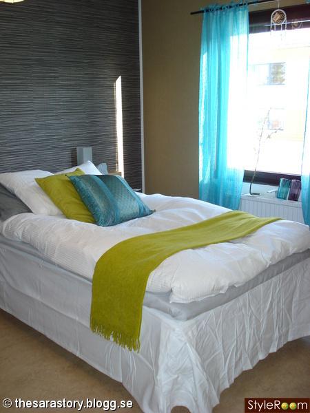 sovrum,grönt,turkost