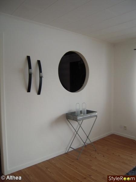runt hål i väggen,zinkbord