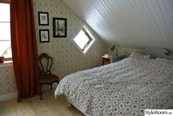 efter,renovering,tapet,sovrum