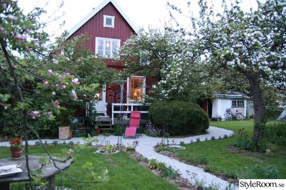husfasad,trädgård,lantligt