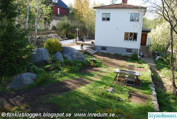trädgård,fasad