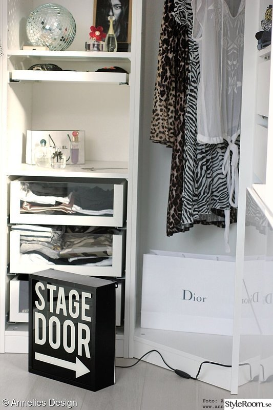 annelies design,webbutik,stage door,ljusskylt,walk in closet
