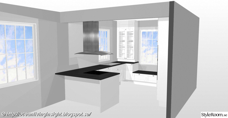 3D ritning New England hus