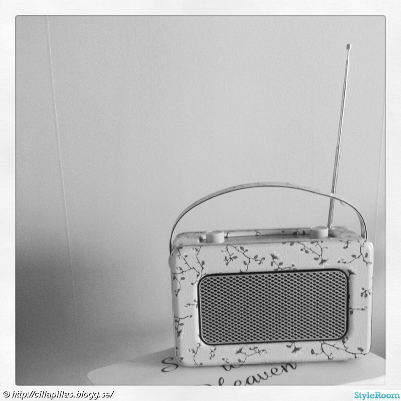 retroradio,blommig radio