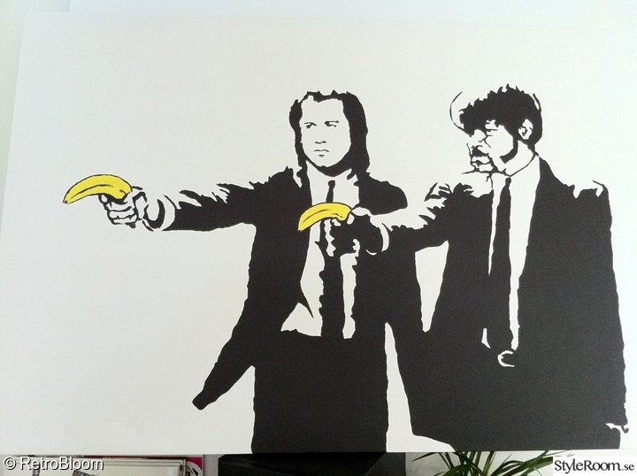 tavla,målning,pulp fiction